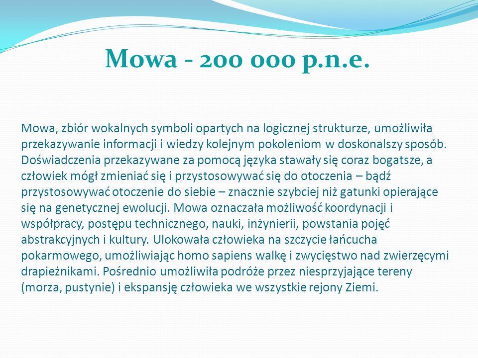 Mowa - 200 000 p.n.e.