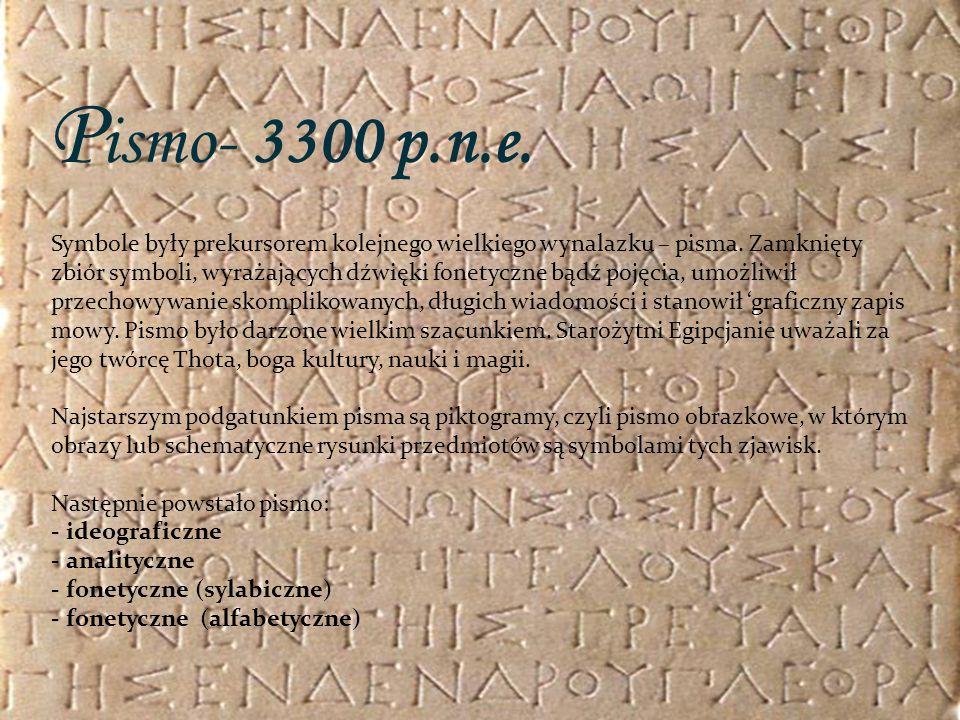 Pismo- 3300 p.n.e.