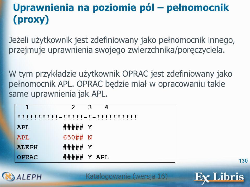 Uprawnienia na poziomie pól – pełnomocnik (proxy)