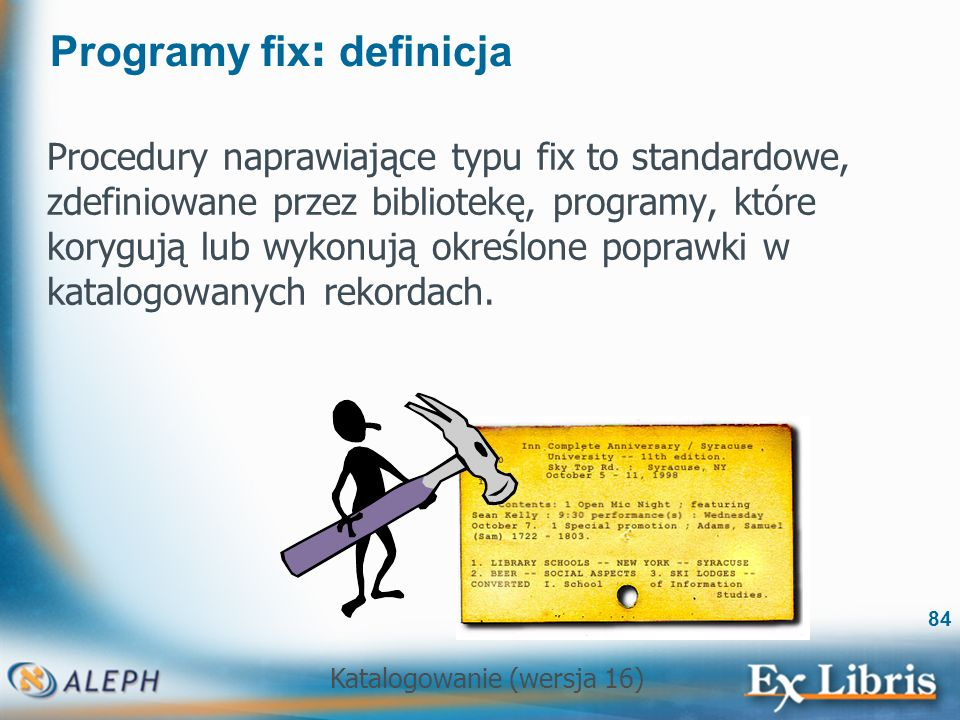 Programy fix: definicja