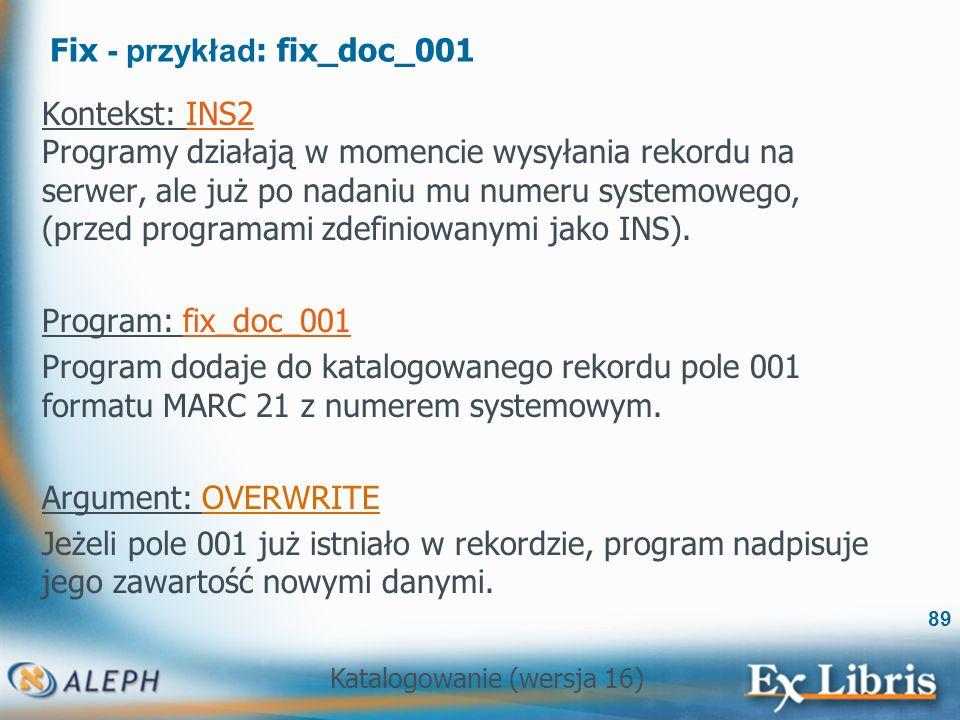 Fix - przykład: fix_doc_001