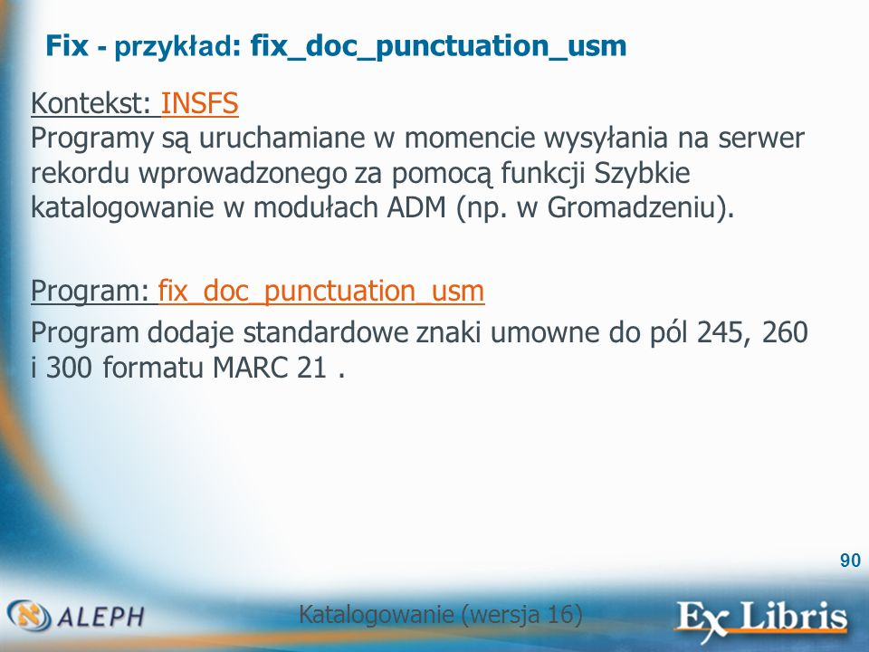Fix - przykład: fix_doc_punctuation_usm