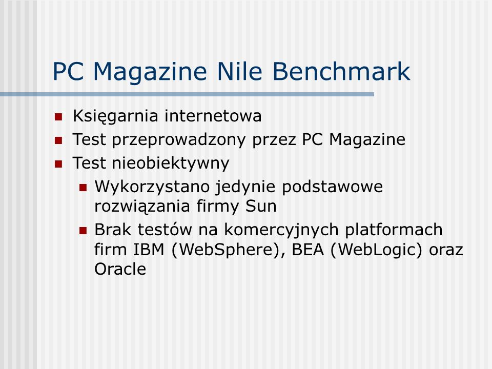 PC Magazine Nile Benchmark