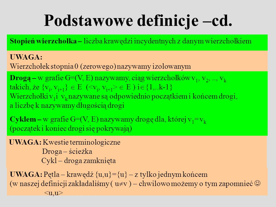 Podstawowe definicje –cd.