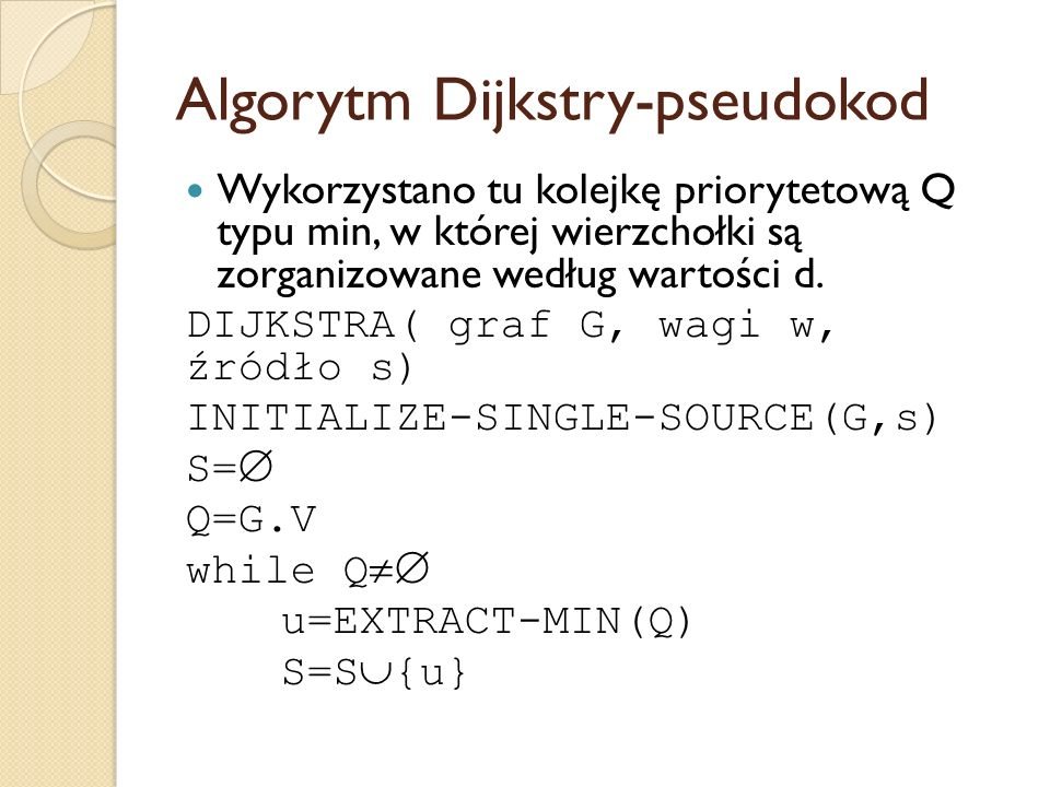 Algorytm Dijkstry-pseudokod