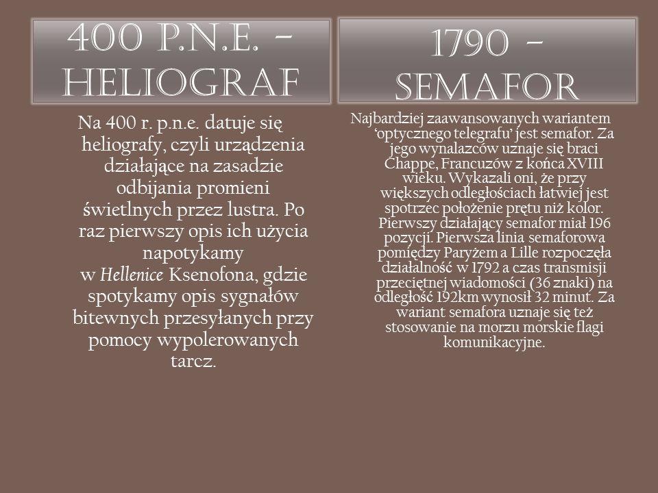 400 p.n.e. - Heliograf 1790 - Semafor