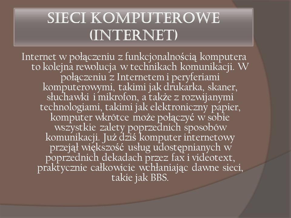 Sieci komputerowe (Internet)