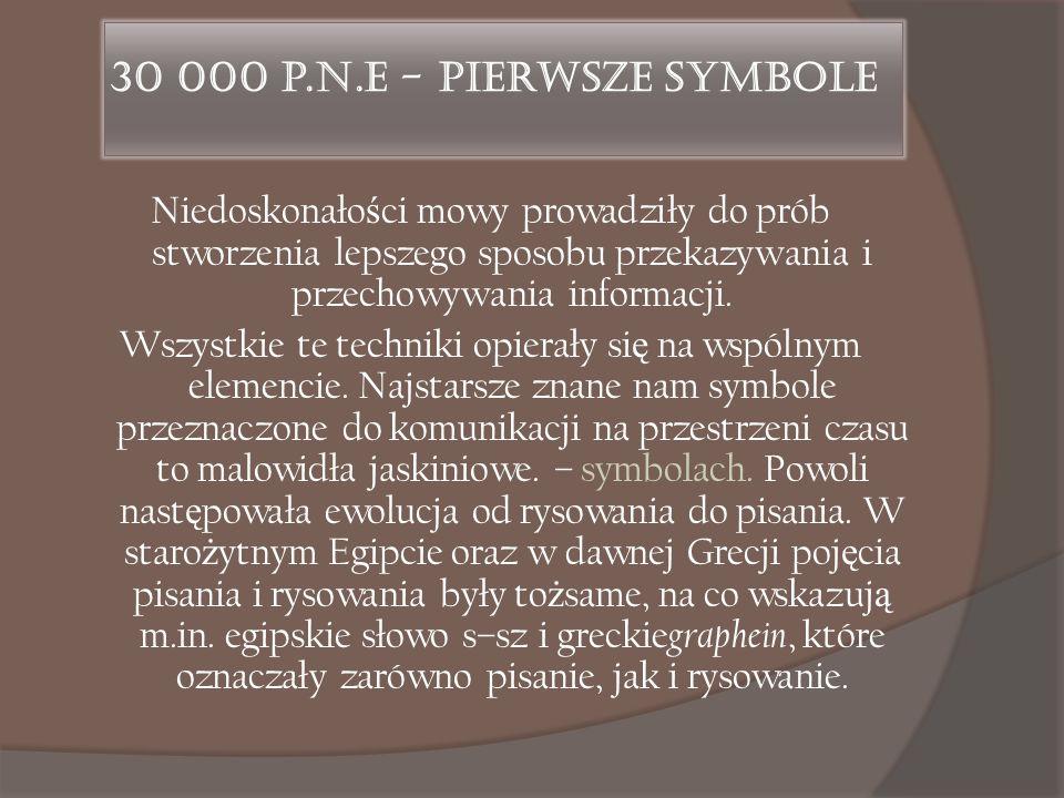 30 000 p.n.e - Pierwsze symbole