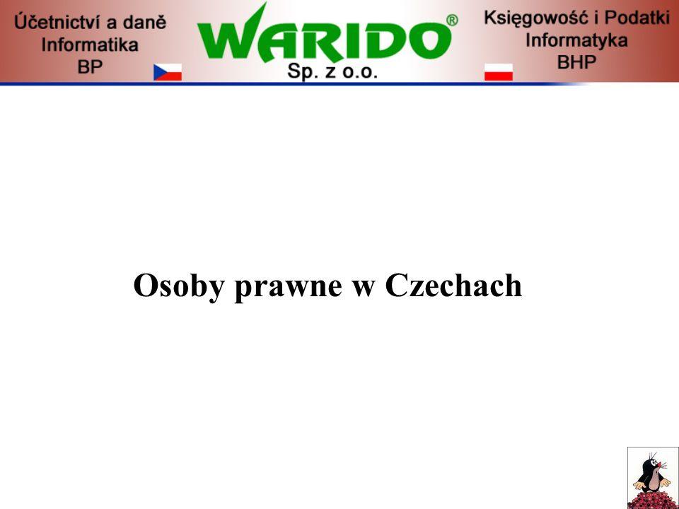 Osoby prawne w Czechach