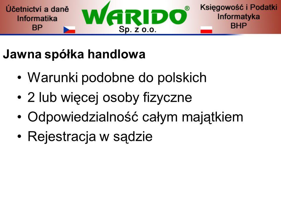 Warunki podobne do polskich 2 lub więcej osoby fizyczne