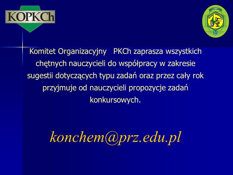 Komitet Organizacyjny PKCh zaprasza wszystkich chętnych nauczycieli do współpracy w zakresie