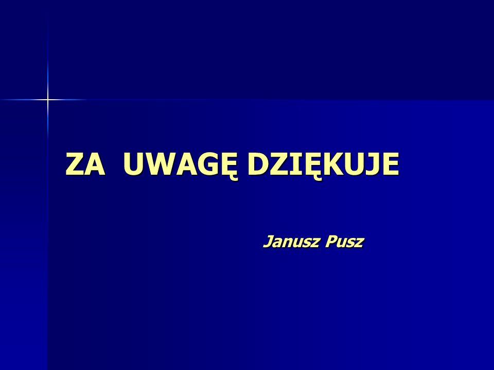 ZA UWAGĘ DZIĘKUJE Janusz Pusz