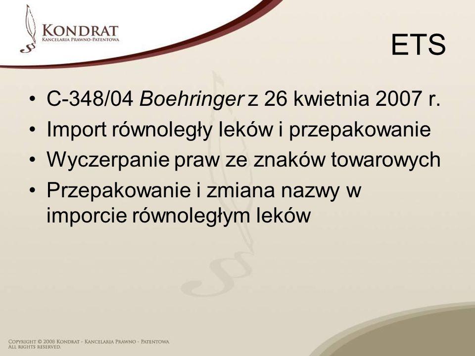 ETS C-348/04 Boehringer z 26 kwietnia 2007 r.