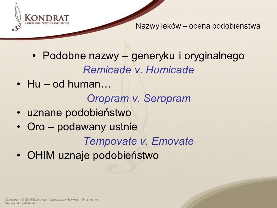 Nazwy leków – ocena podobieństwa
