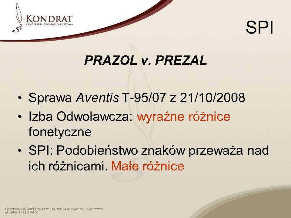 SPI PRAZOL v. PREZAL Sprawa Aventis T‑95/07 z 21/10/2008