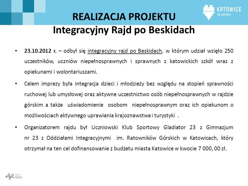 REALIZACJA PROJEKTU Integracyjny Rajd po Beskidach
