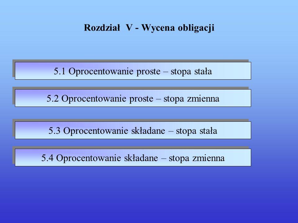 Rozdział V - Wycena obligacji