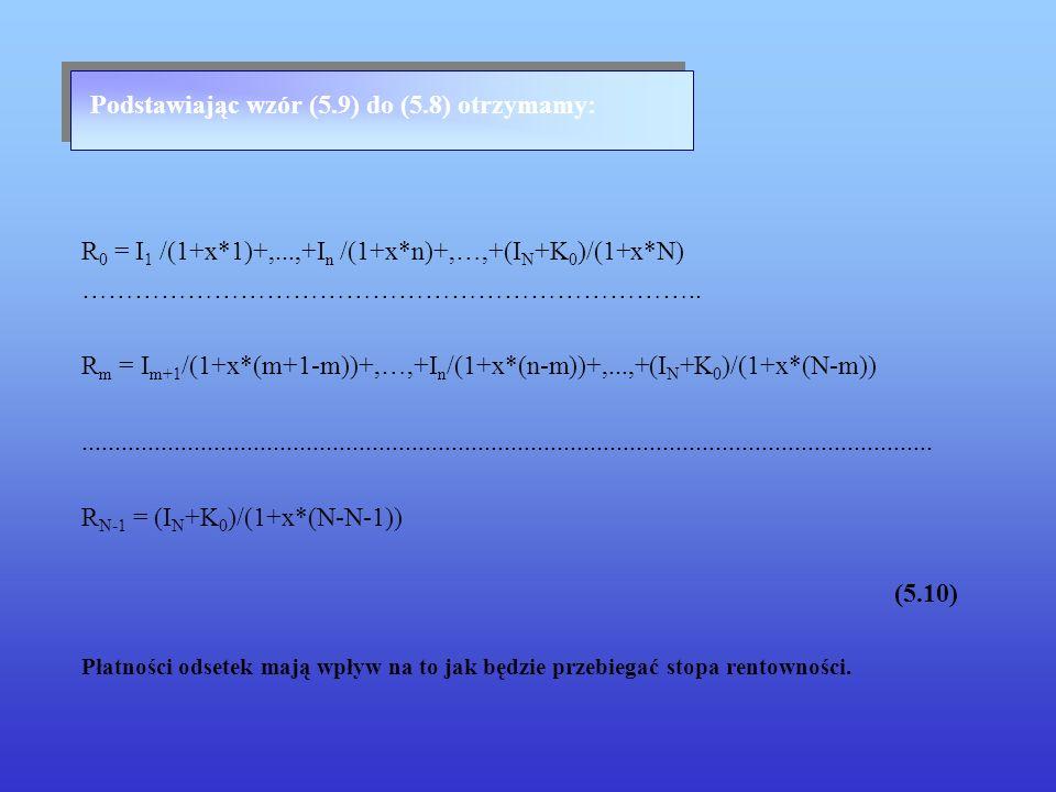 Podstawiając wzór (5.9) do (5.8) otrzymamy: