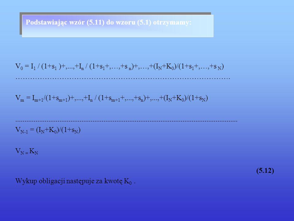 Podstawiając wzór (5.11) do wzoru (5.1) otrzymamy: