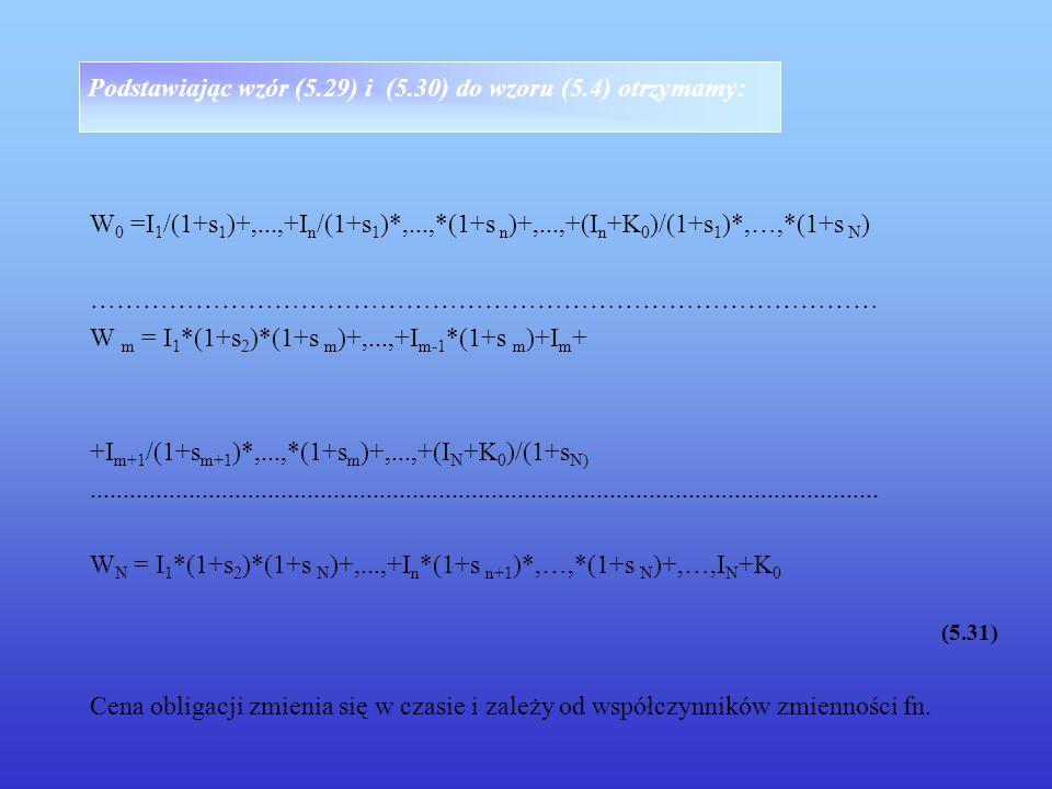 Podstawiając wzór (5.29) i (5.30) do wzoru (5.4) otrzymamy: