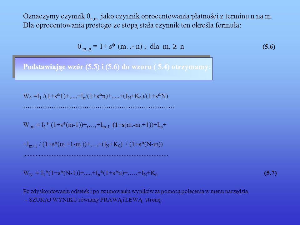 0 m.,n = 1+ s* (m. .- n) ; dla m.  n (5.6)