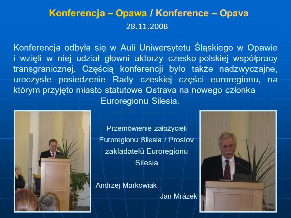 Konferencja – Opawa / Konference – Opava