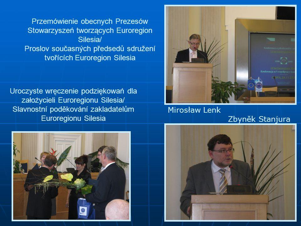 Proslov současných předsedů sdružení tvořících Euroregion Silesia