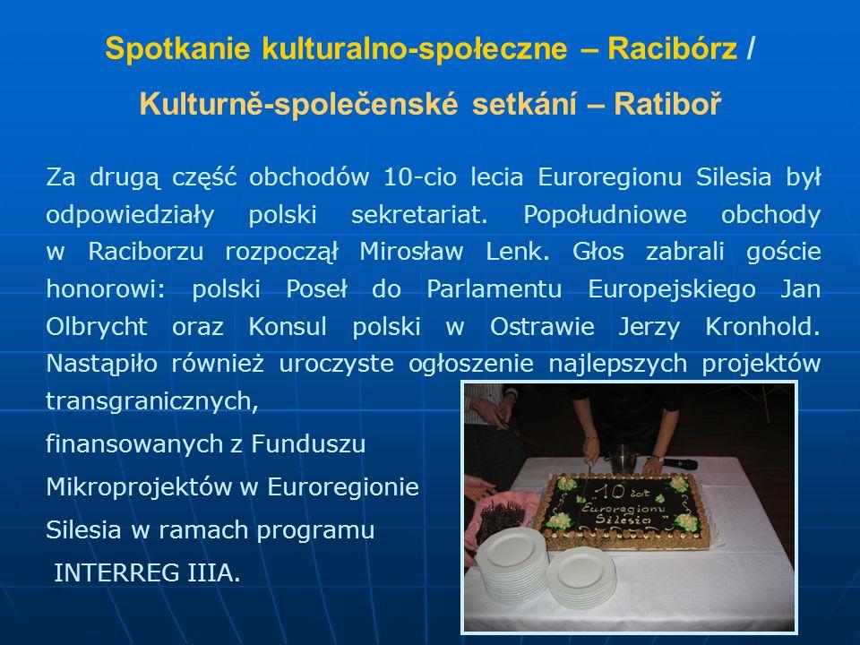 Spotkanie kulturalno-społeczne – Racibórz / Kulturně-společenské setkání – Ratiboř