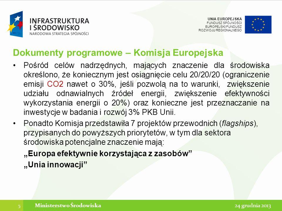 Dokumenty programowe – Komisja Europejska