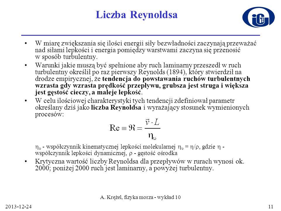 A. Krężel, fizyka morza - wykład 10