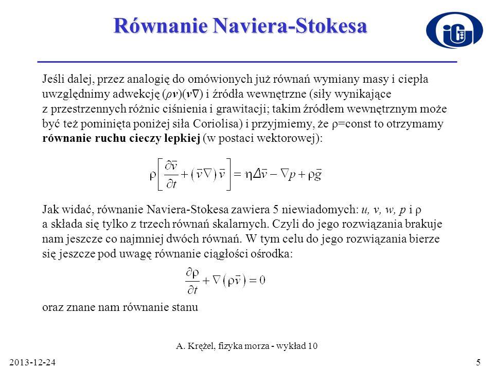 Równanie Naviera-Stokesa
