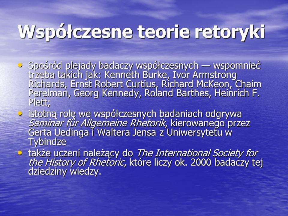 Współczesne teorie retoryki