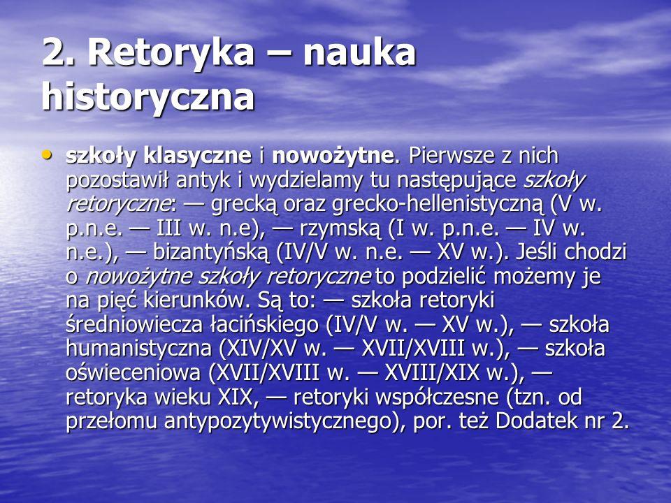 2. Retoryka – nauka historyczna