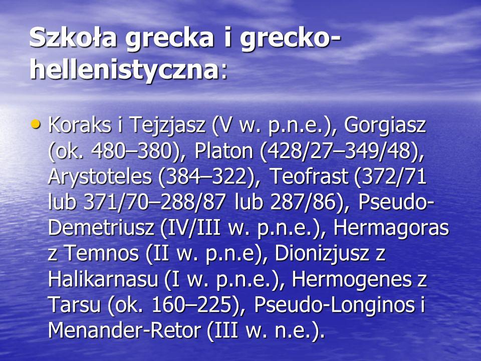 Szkoła grecka i grecko-hellenistyczna: