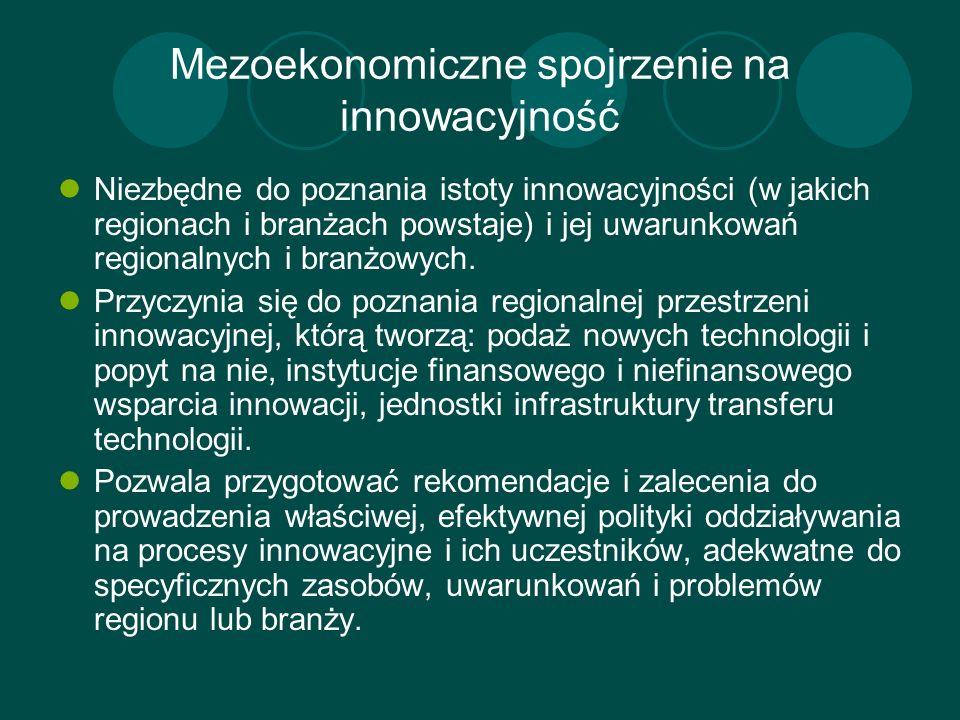 Mezoekonomiczne spojrzenie na innowacyjność