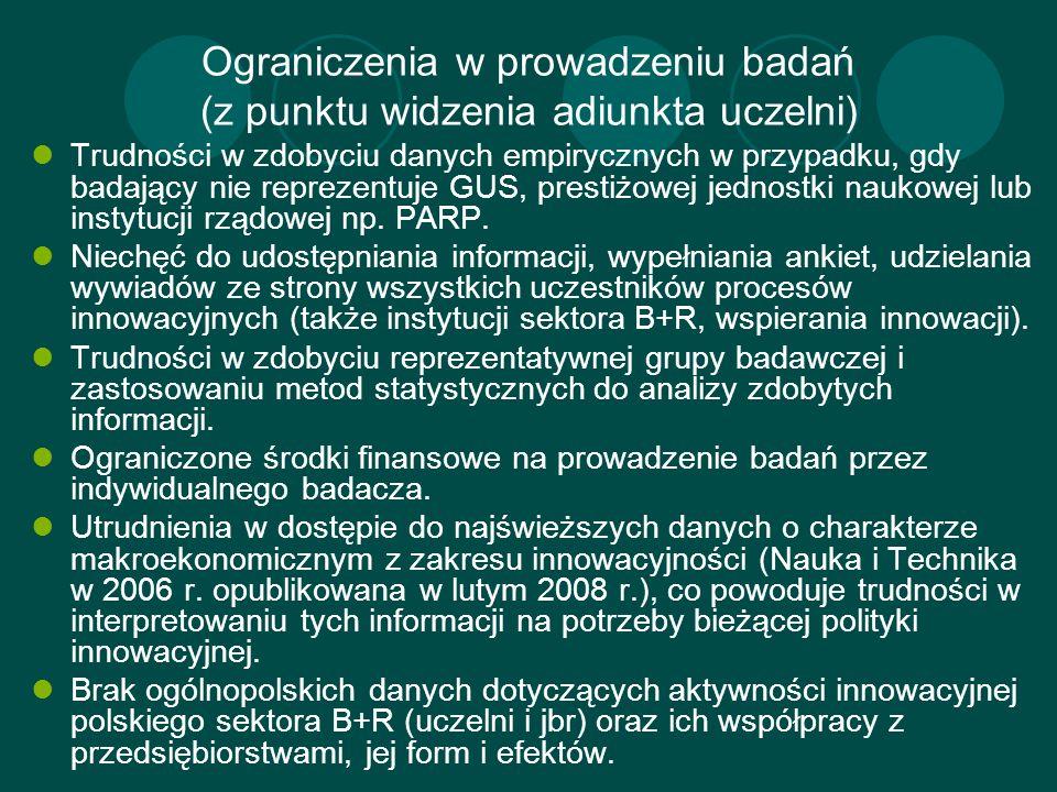 Ograniczenia w prowadzeniu badań (z punktu widzenia adiunkta uczelni)