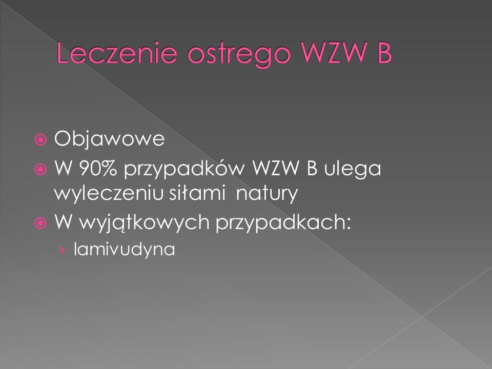 Leczenie ostrego WZW B Objawowe