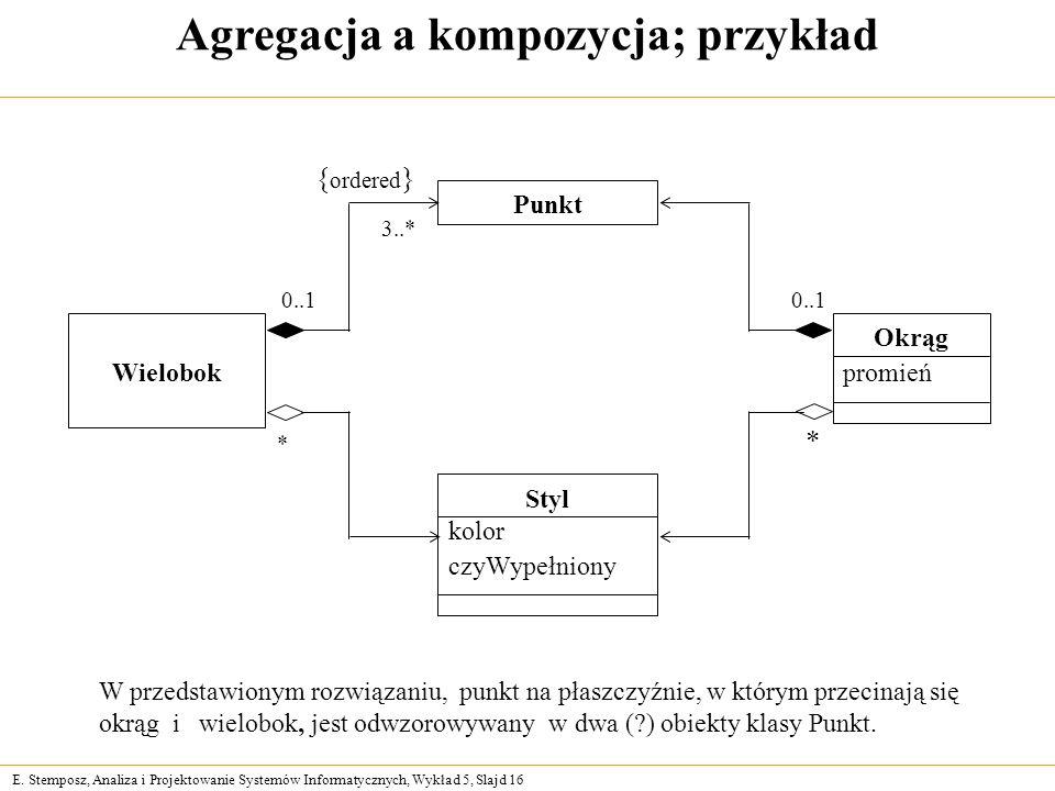 Agregacja a kompozycja; przykład