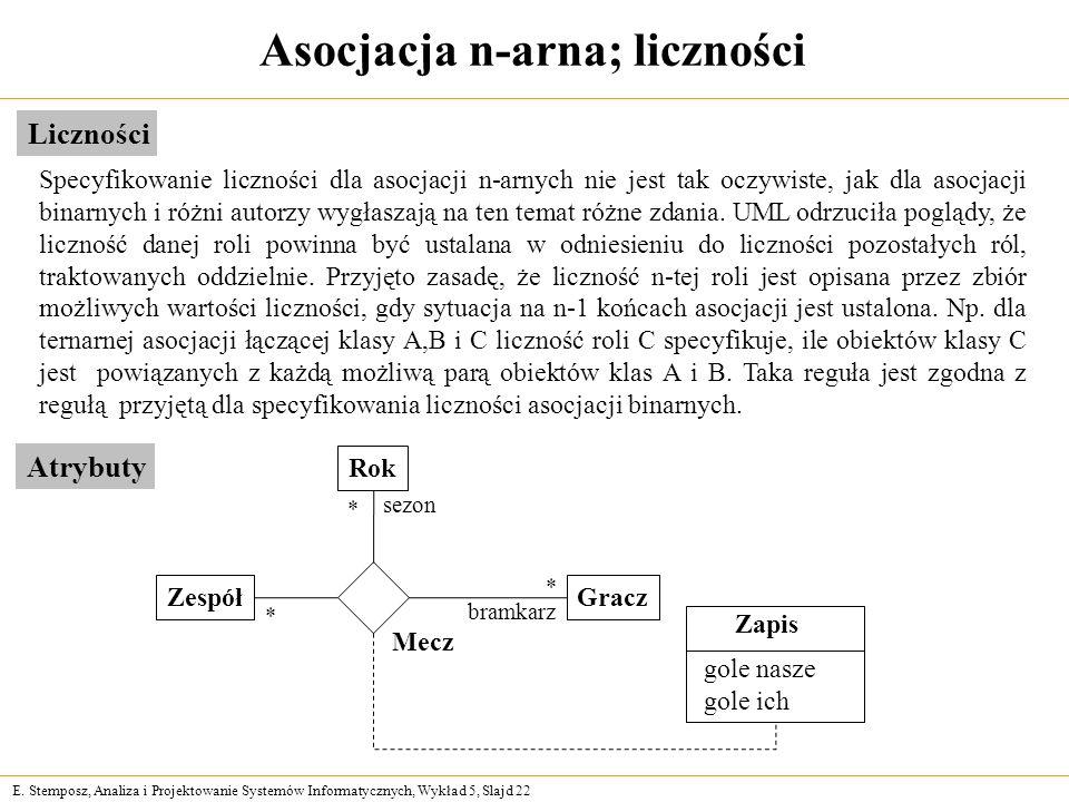 Asocjacja n-arna; liczności