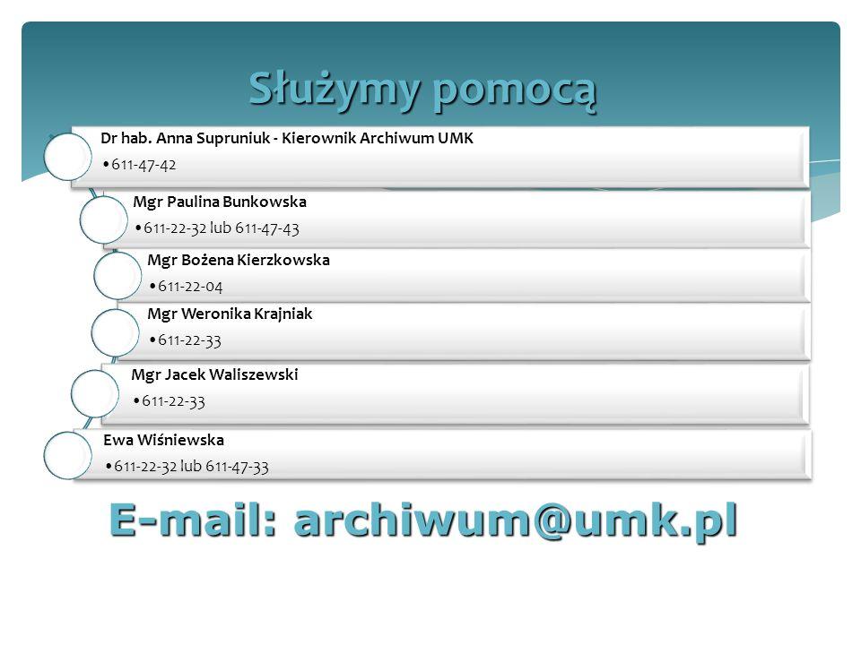 E-mail: archiwum@umk.pl