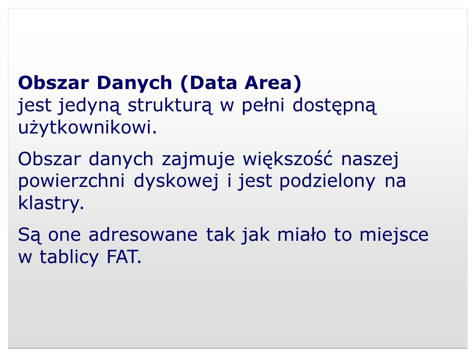 Obszar Danych (Data Area)