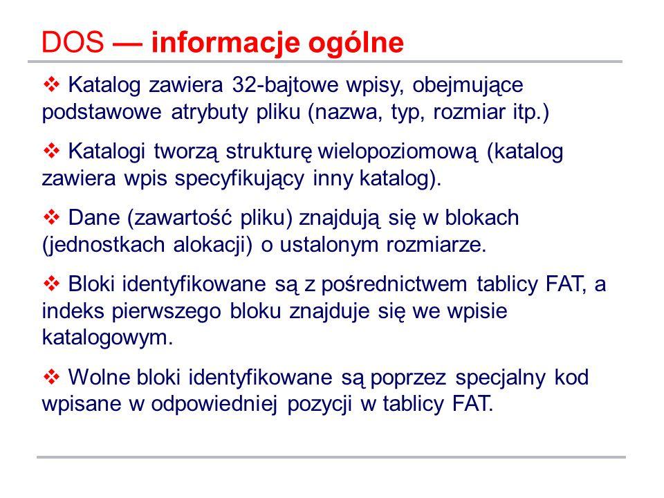 DOS — informacje ogólne
