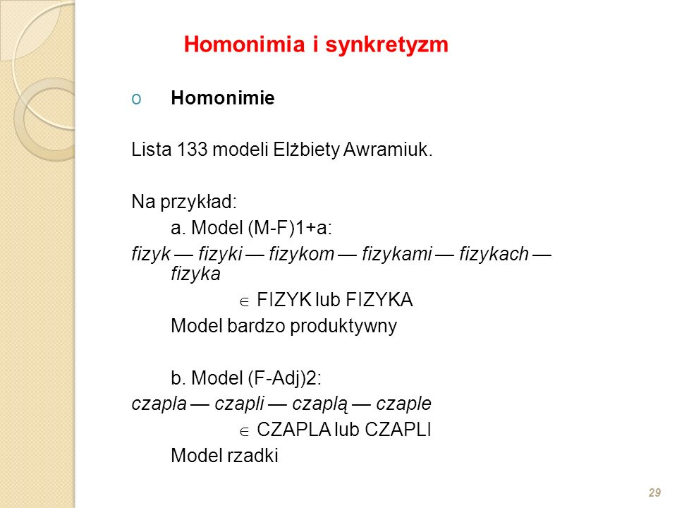 Homonimia i synkretyzm