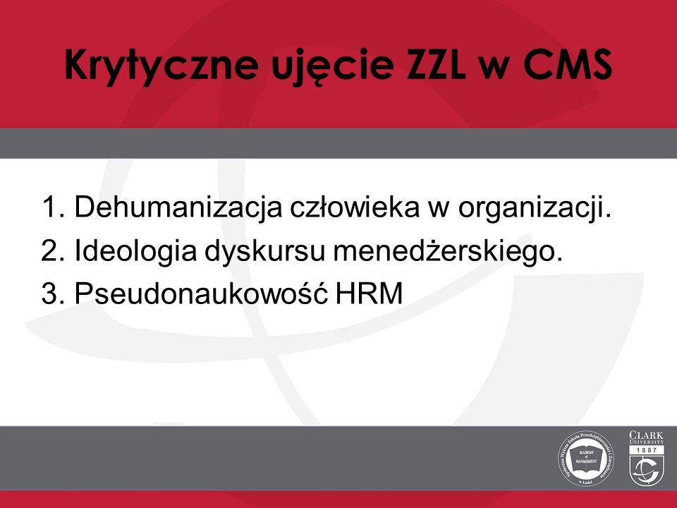 Krytyczne ujęcie ZZL w CMS