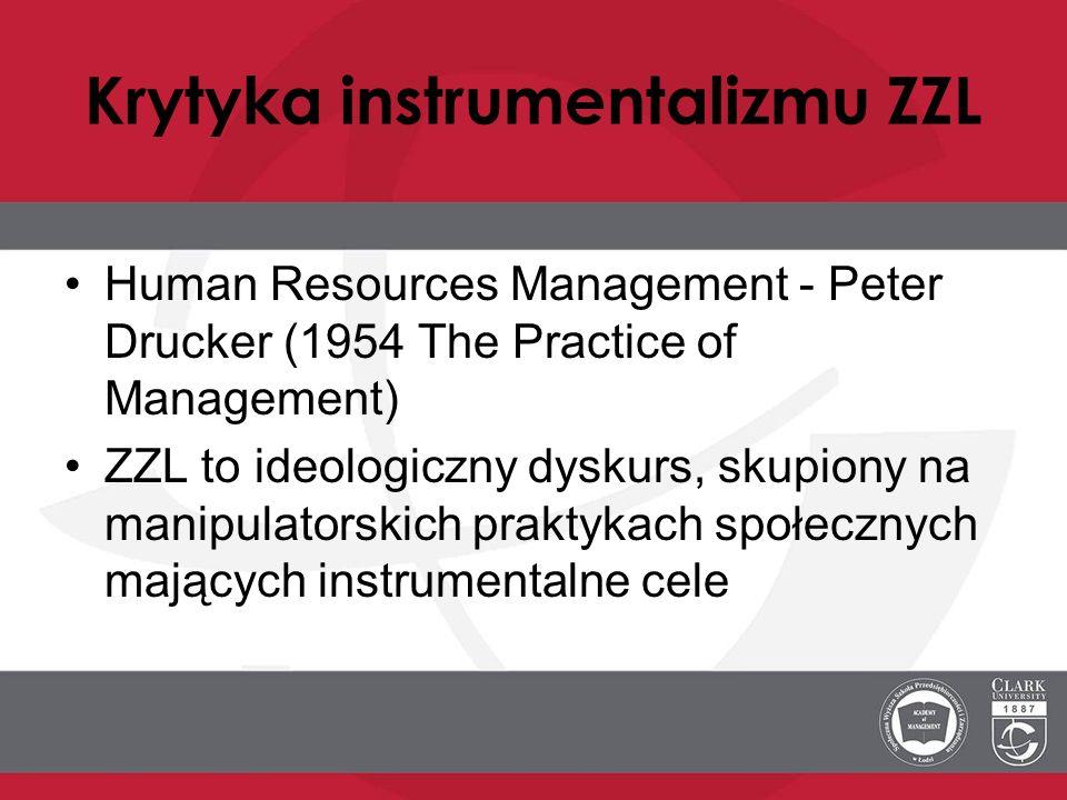 Krytyka instrumentalizmu ZZL