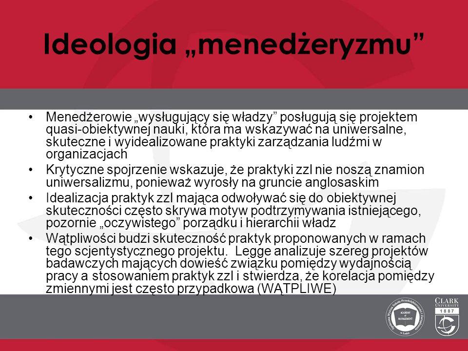 """Ideologia """"menedżeryzmu"""