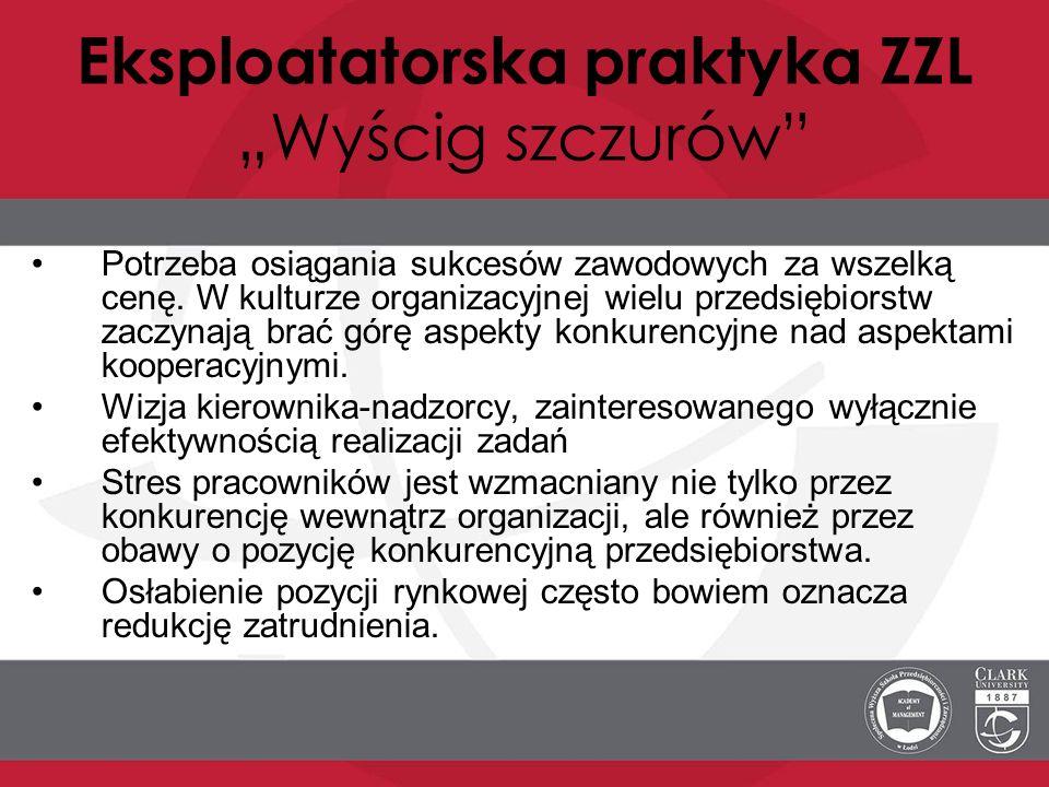 """Eksploatatorska praktyka ZZL """"Wyścig szczurów"""