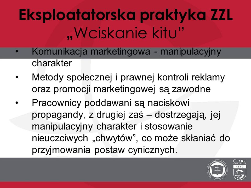 "Eksploatatorska praktyka ZZL ""Wciskanie kitu"