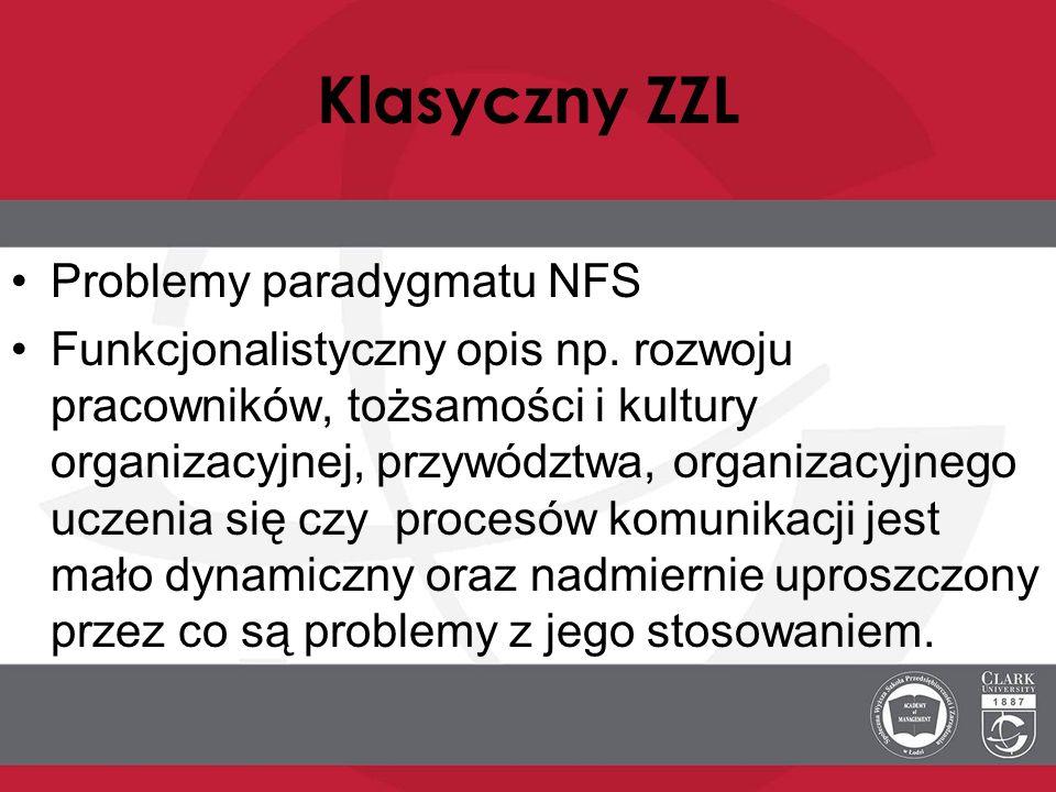 Klasyczny ZZL Problemy paradygmatu NFS