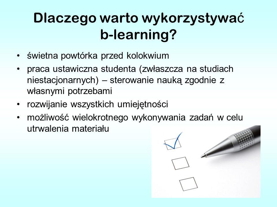 Dlaczego warto wykorzystywać b-learning